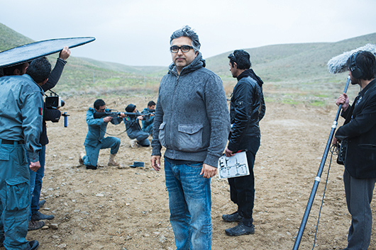 Tarique on set in Kabul