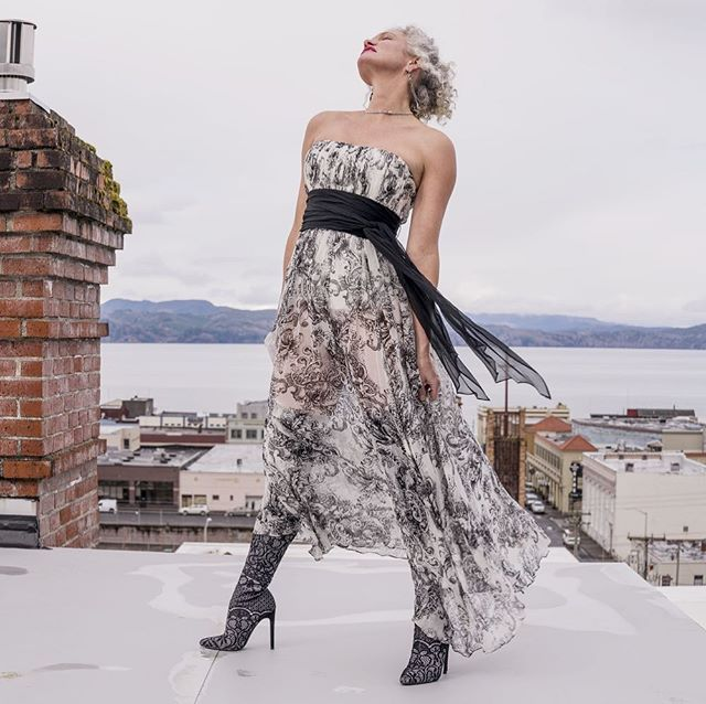 Atop the world of Astoria... Photo by Jeff Wong Model: Shannon Day Produced By MYNX Media #silverfoxlife