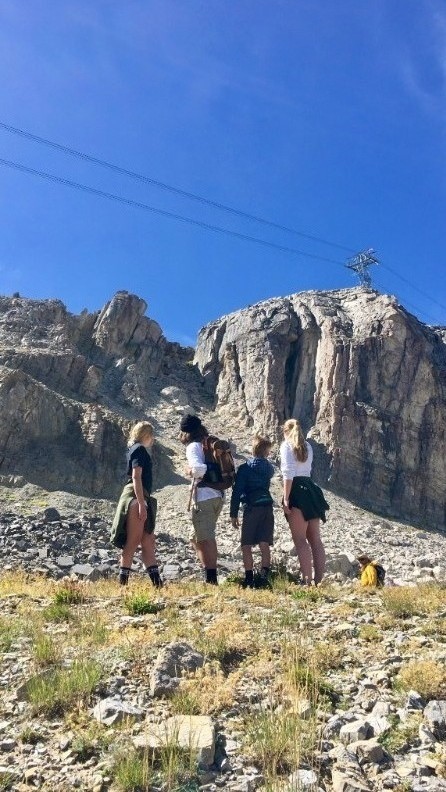 Ellie, Evan and Hayley in Jackson Hole, Wyoming