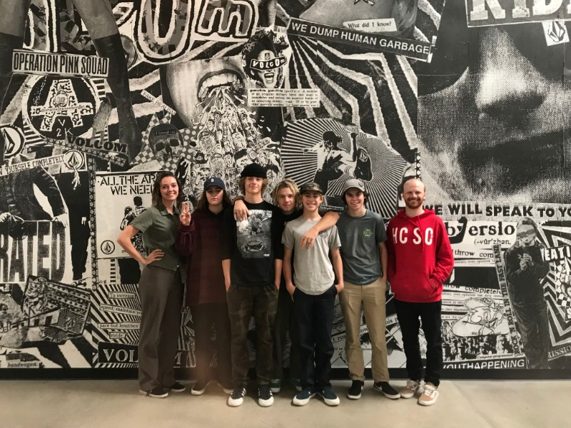 The Snowboard Team visiting Volcom HQ in Costa Mesa, California