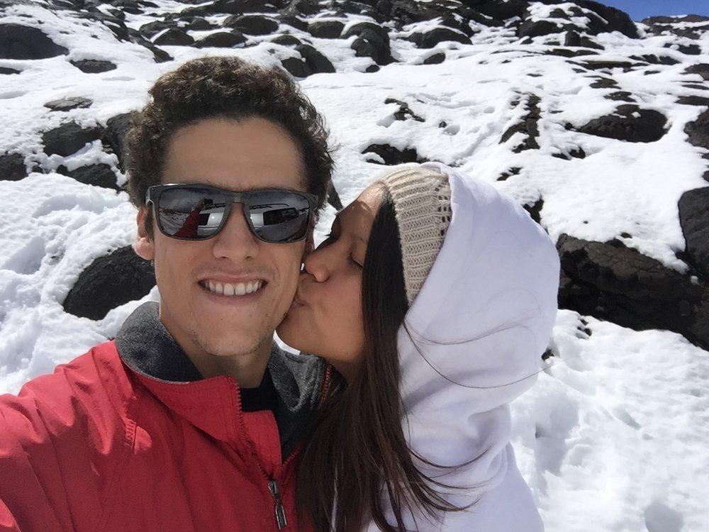 Snow on Mauna Loa- Winter 2016