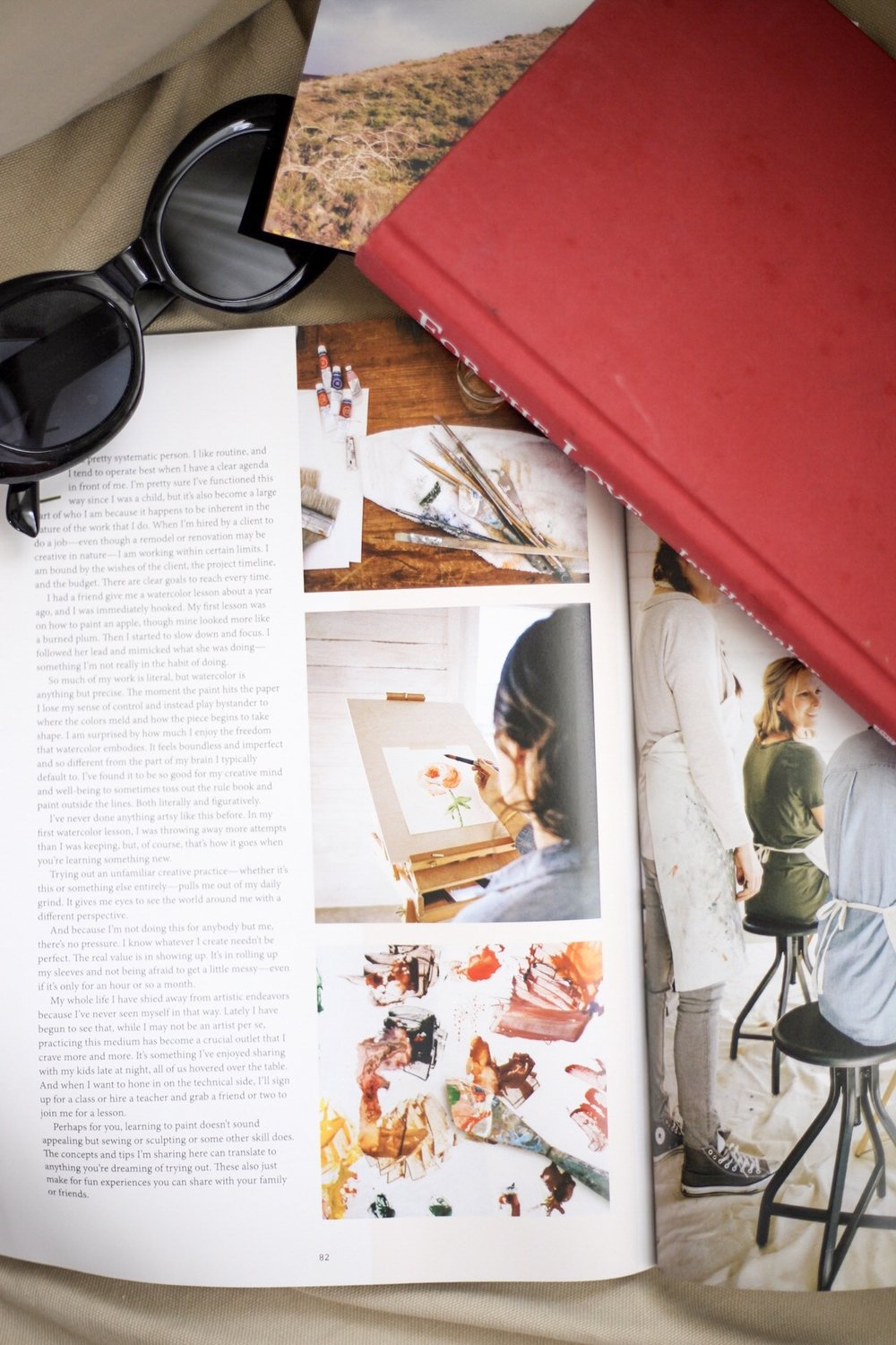 Products shown:  the Magnolia Journal (Fall 2018 issue)  and  For the Love by Jen Hatmaker