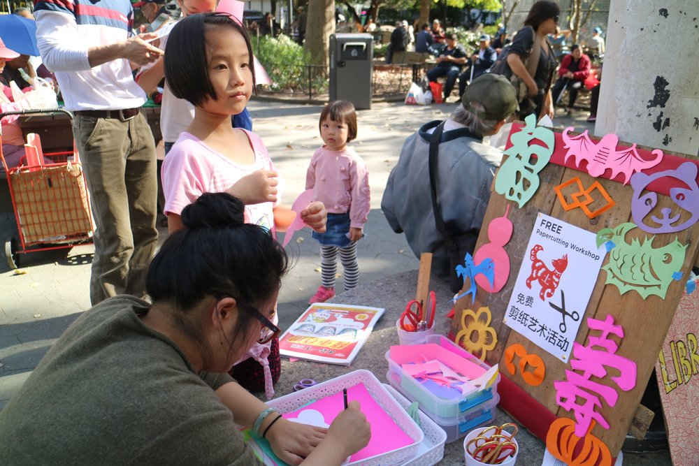October Paper Cutting Workshop in Columbus Park Photo by Mei Lum