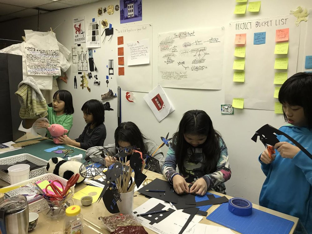 January Make & Film Shadow Puppets Workshop Photo by Mei Lum