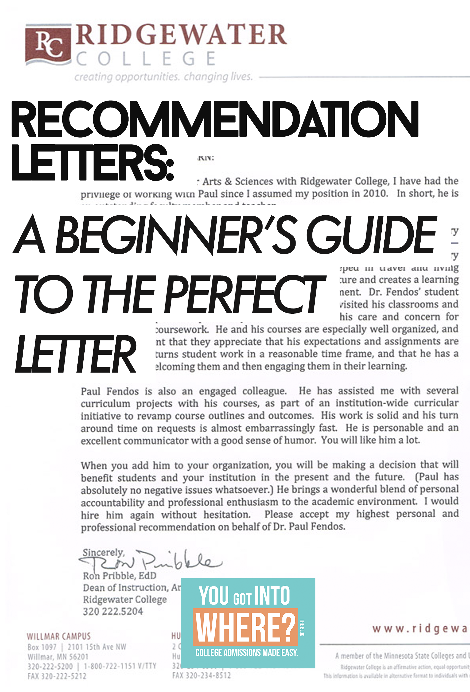 A Beginners Guide To The Perfect College Recommendation Letter Teacher Recommendation  Guide To The Perfect Letterg