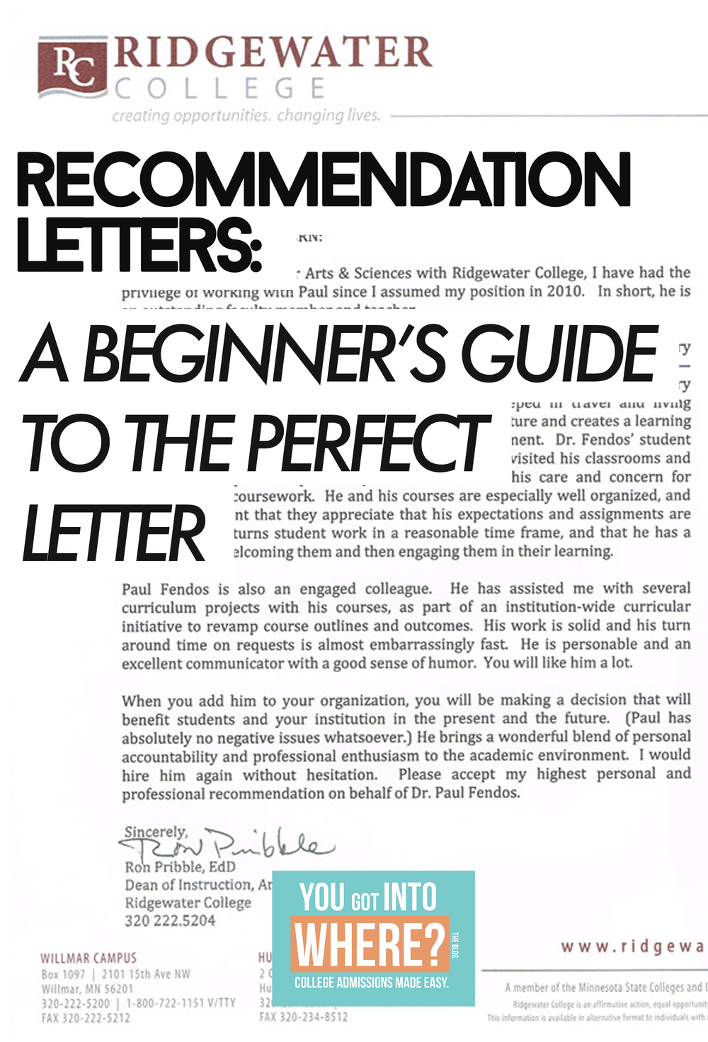 a beginner s guide to the perfect college recommendation letter