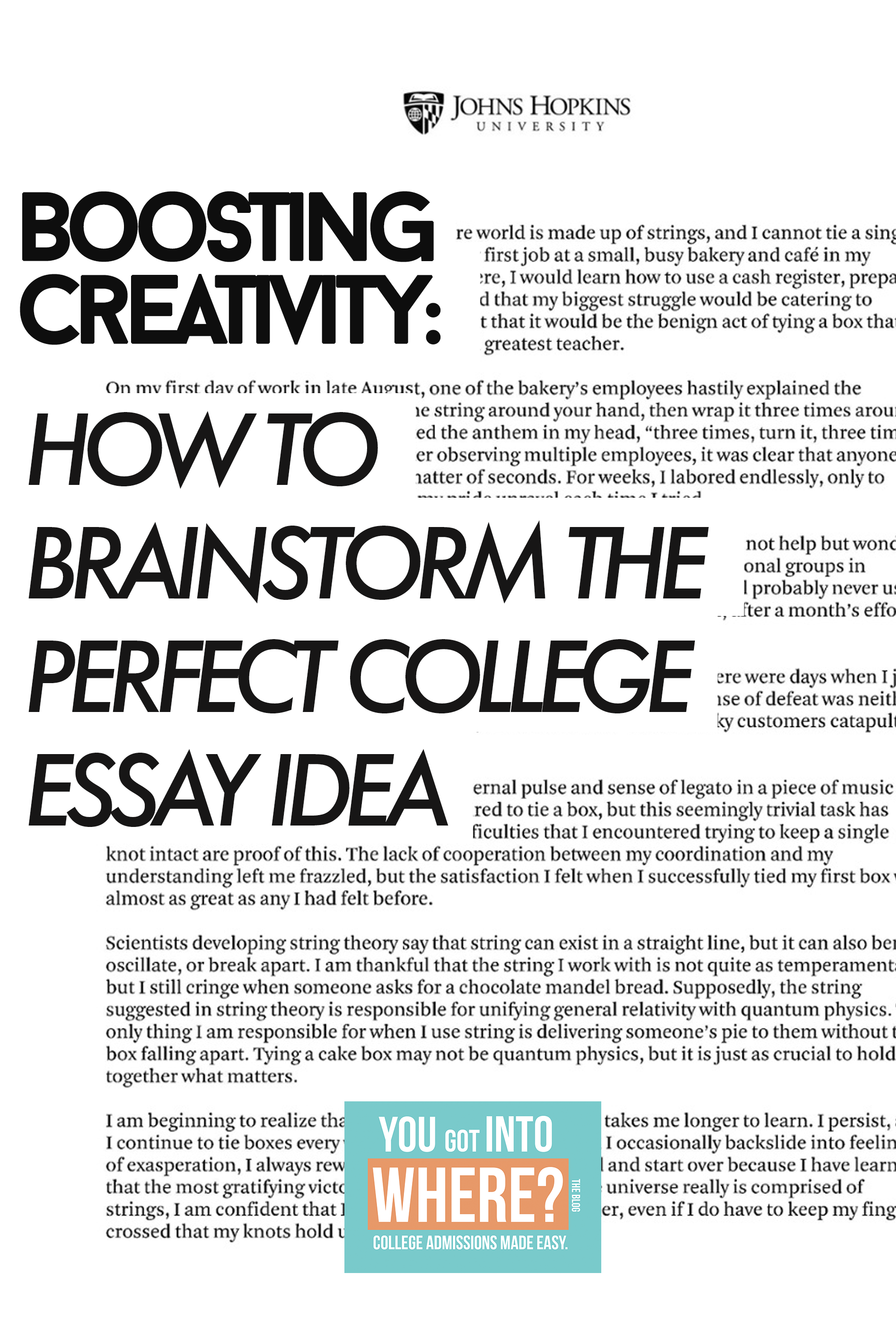 college essay brainstorming help