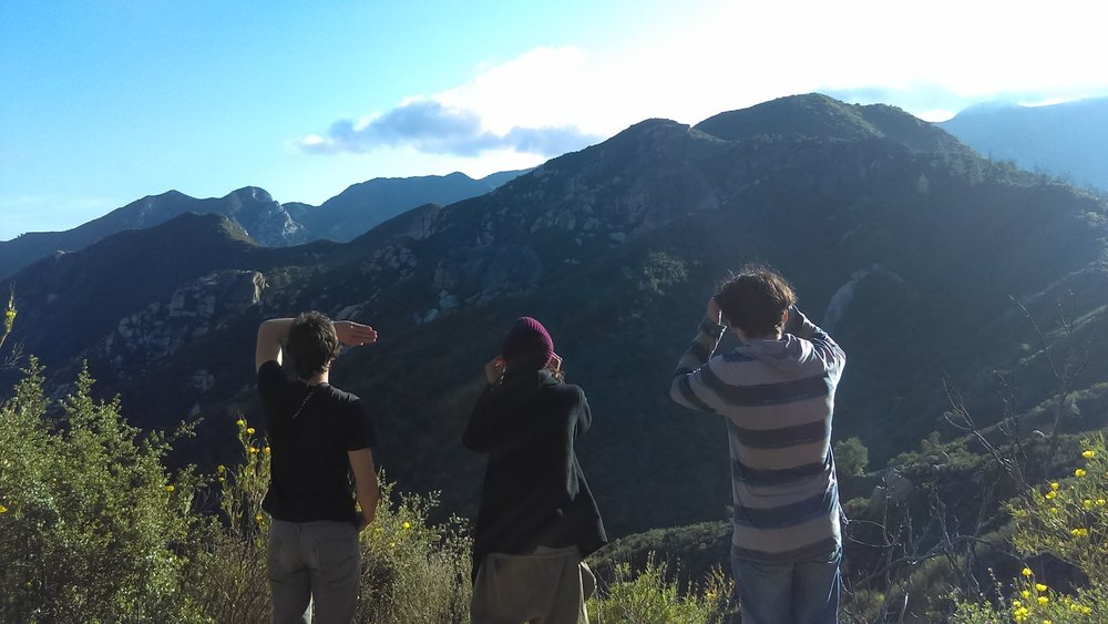 "Appreciating the view while the brakes cool on the way into the Tassajara Zen center. Photo credit Vanessa ""Mumulaluk"" Sanchez."