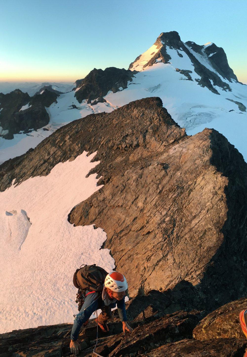 Will Gordon on the South Buttress of Joffre Peak_Photo by Dustin Portzline.JPG