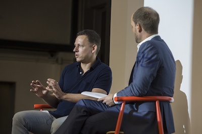 In 2015, Brinc hosted Peter Thiel in Hong Kong.