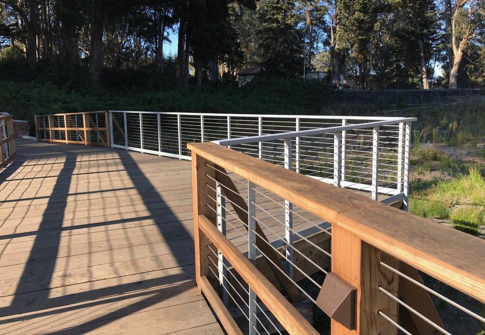 MacArthur Meadow Boardwalk - Wet Meadow restoration the Presidio