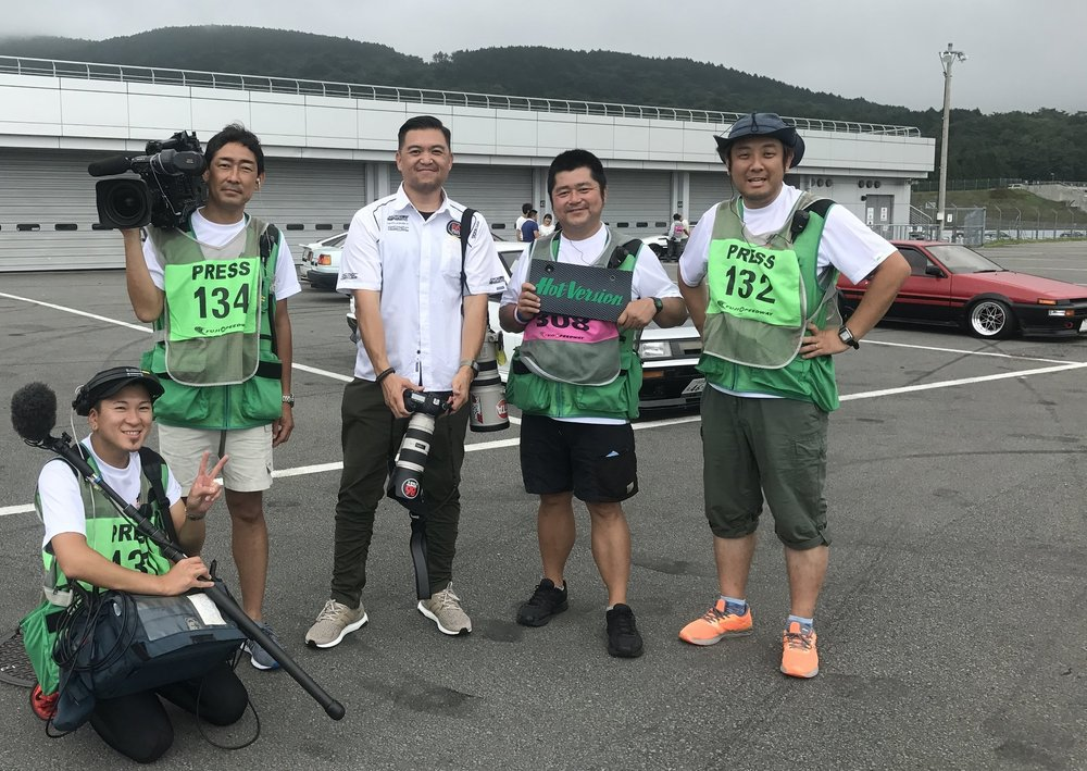 At Fuji Speedway in Japan, shooting with the crew from the legendary Hot Version Video Series!
