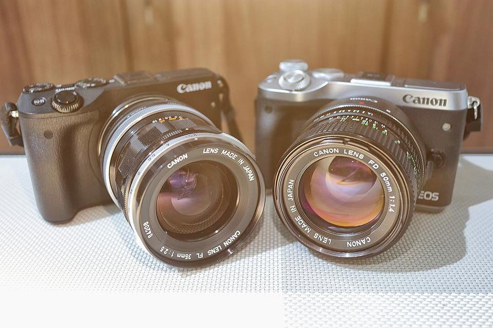 Canon M6 Mirrorless with Classic Canon FD Mount Manual Focus Lens