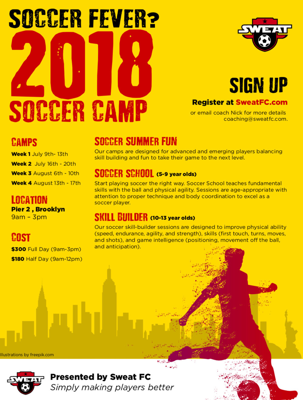 2018 youth summer camps