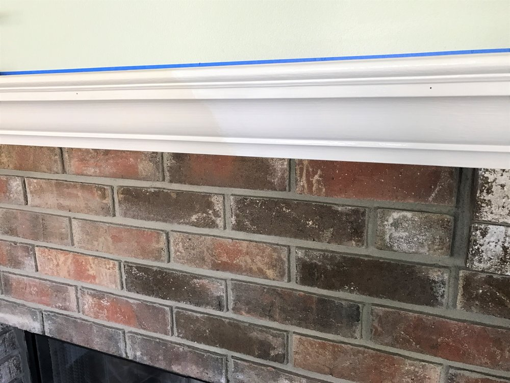 How to Whitewash a Brick Fireplace | This Hiatus