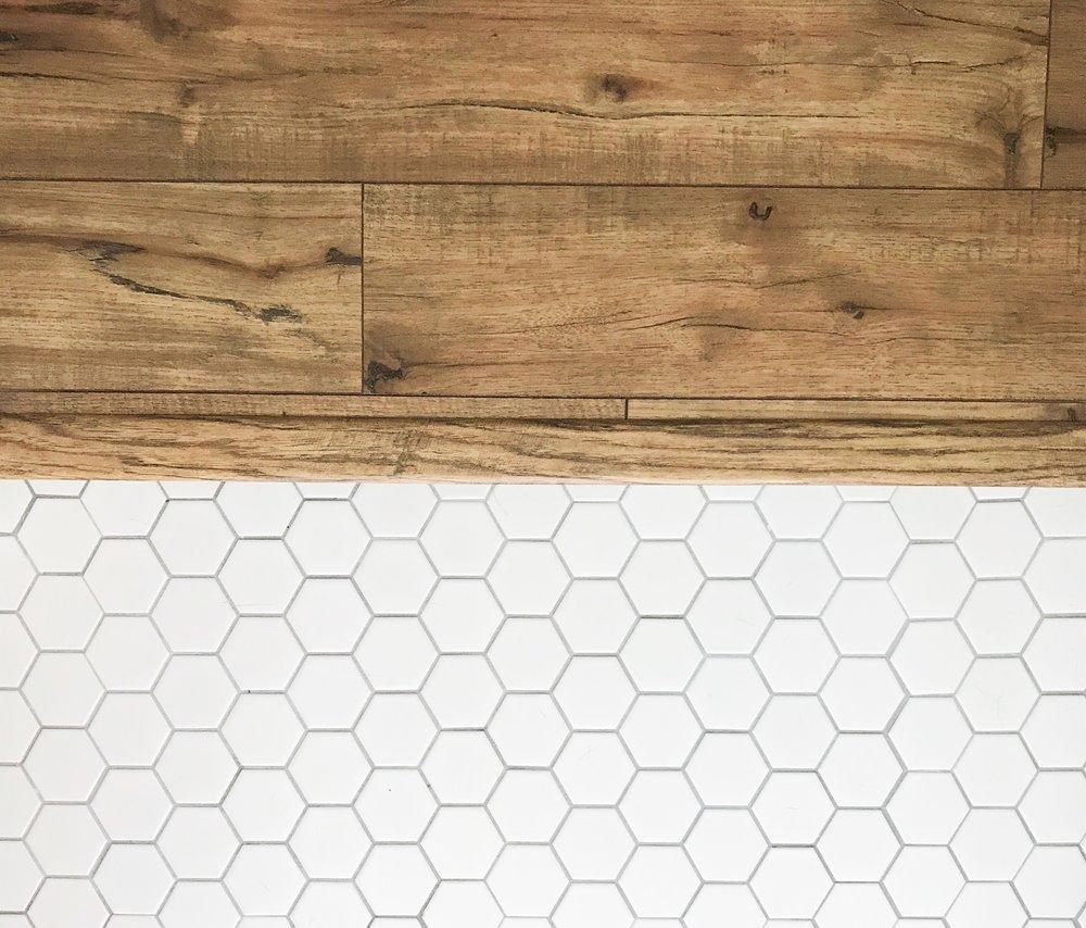 White Hexagon Tile Floor | This Hiatus Blog