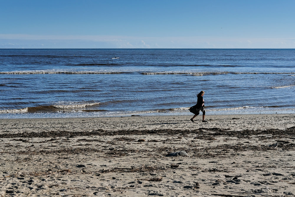 Stranger to me…but I loved the stride she was walking the beach with