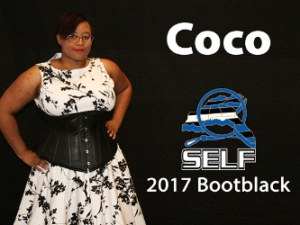 Coco is a little, a leathergirl and the Southeast Bootblack 2017. She enjoys emotional masochism and ageplay as well and over the years she's become committed to spreading information about her passions through educations. You can find her at cons or groups presenting classes or in the bootblack stands.