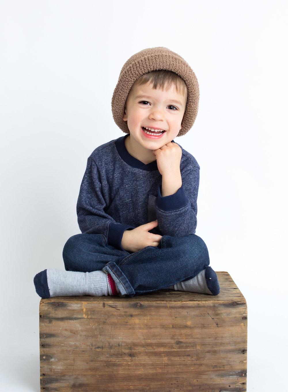 boy in studio  belleville family photographer