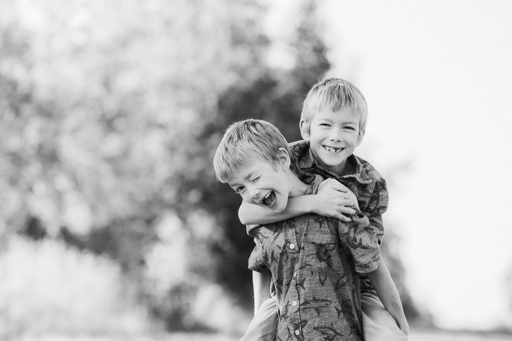 twins in field  belleville family photographer