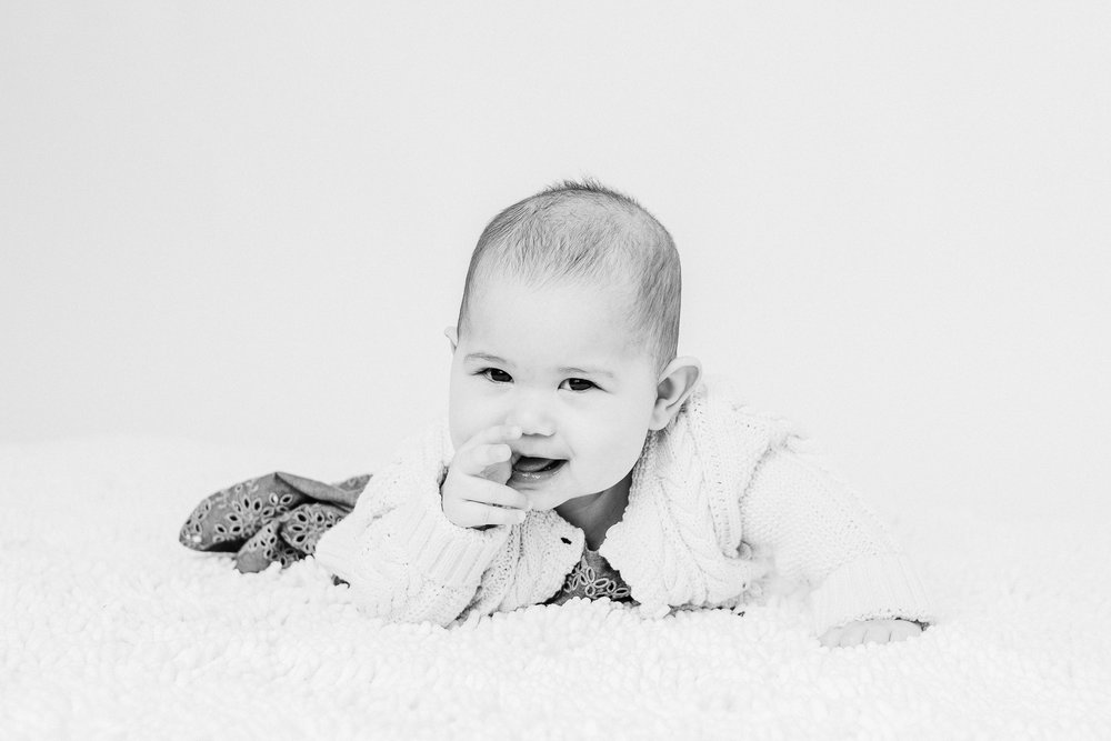 baby in studio  belleville family photographer