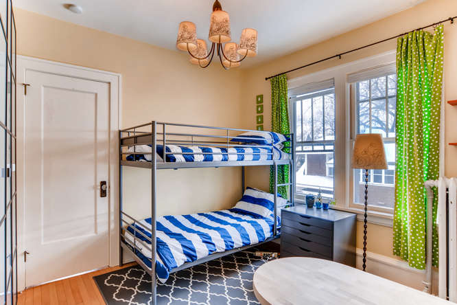 Phil worked painstakingly to re-rope and repaint the windows in this bedroom.