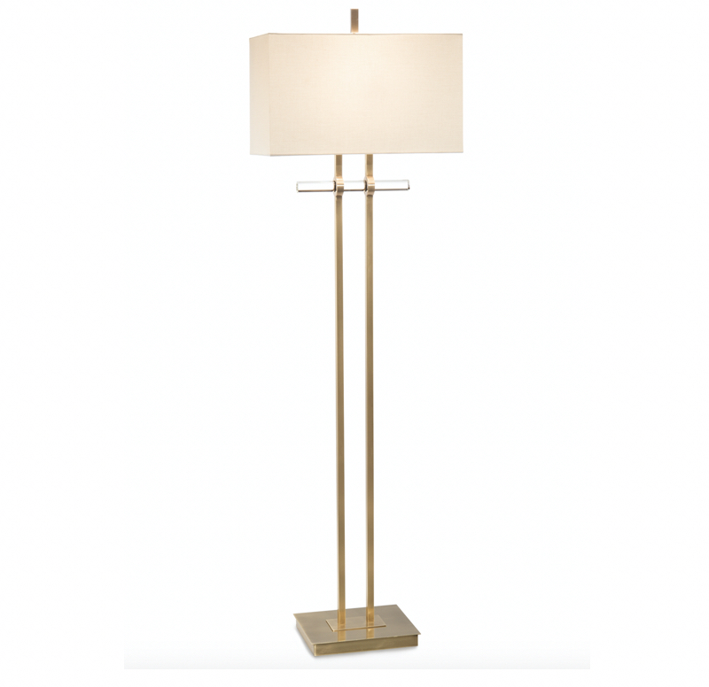 Brass & Glass Floor Lamp