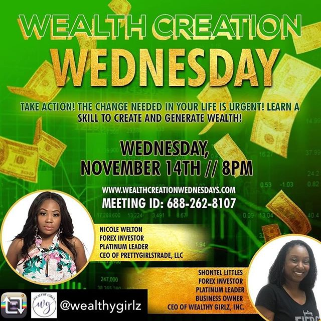 Join us tonight for the LATEST ways to generate wealth.  We love the financial advice we receive from @wealthygirlz and we'll be there tonight for more great skills to learn. See you at 8 pm eastern tonight!!! ✨ ✨ Repost from @wealthygirlz using @RepostRegramApp - Aren't you ready for financial peace of mind???⠀⠀⠀⠀⠀⠀⠀⠀⠀ ⠀⠀⠀⠀⠀⠀⠀⠀⠀ The struggle of living paycheck to paycheck, borrowing money, robbing Peter to pay Paul, being in debt, going to a job you hate, and always being broke is NOT living!⠀⠀⠀⠀⠀⠀⠀⠀⠀ ⠀⠀⠀⠀⠀⠀⠀⠀⠀ Its been time to take full control of YOUR LIFE!!⠀⠀⠀⠀⠀⠀⠀⠀⠀ ⠀⠀⠀⠀⠀⠀⠀⠀⠀ Imagine learning a skill that will literally help you and your family become financially free…..⠀⠀⠀⠀⠀⠀⠀⠀⠀ ⠀⠀⠀⠀⠀⠀⠀⠀⠀ Imagine being able to make money without getting another job……⠀⠀⠀⠀⠀⠀⠀⠀⠀ ⠀⠀⠀⠀⠀⠀⠀⠀⠀ Join me this Wednesday night for a private Webinar as I continue my journey to help families become financially free!⠀⠀⠀⠀⠀⠀⠀⠀⠀ ⠀⠀⠀⠀⠀⠀⠀⠀⠀ There are 50 days left in 2018….Let's make money, not EXCUSES! ⠀⠀⠀⠀⠀⠀⠀⠀⠀ ⠀⠀⠀⠀⠀⠀⠀⠀⠀ ⠀⠀⠀⠀⠀⠀⠀⠀⠀ ⠀⠀⠀⠀⠀⠀⠀⠀⠀ ⠀⠀⠀⠀⠀⠀⠀⠀⠀ ⠀⠀⠀⠀⠀⠀⠀⠀⠀ ⠀⠀⠀⠀⠀⠀⠀⠀⠀ #bosschick #freedomlifestyle #goaldigger #moneygoals #grownwoman #womenwhotrade #buildinganempire #makeithappen #queenstatus  #basketballwives  #securethebag #lifestylegoals #wealthywomen  #spendingmoney #financialgoals #grownwomanstatus  #lhhatlanta  #snoblife  #raleighnc  #novababe  #singlemomlife #divorcedmom #momprenuer #femalehustler #shaderoom #womenhelpingwomen #goodcredit #livingthedreamlife #budgeting