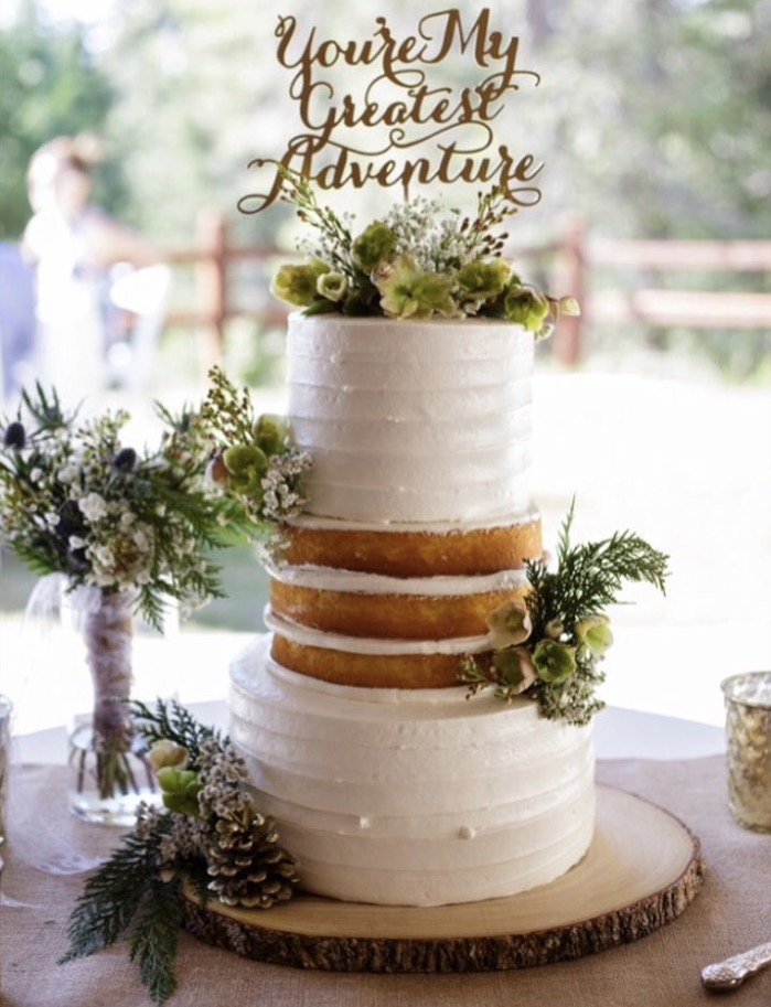 Rustic, traditional, white naked wedding cake design.Nicole Bakes Cakes is a Southern California boutique wedding cake designer specializing in artistic, unique, out of the box wedding cakes and desserts throughout Los Angeles, South Bay, and Long Beach.