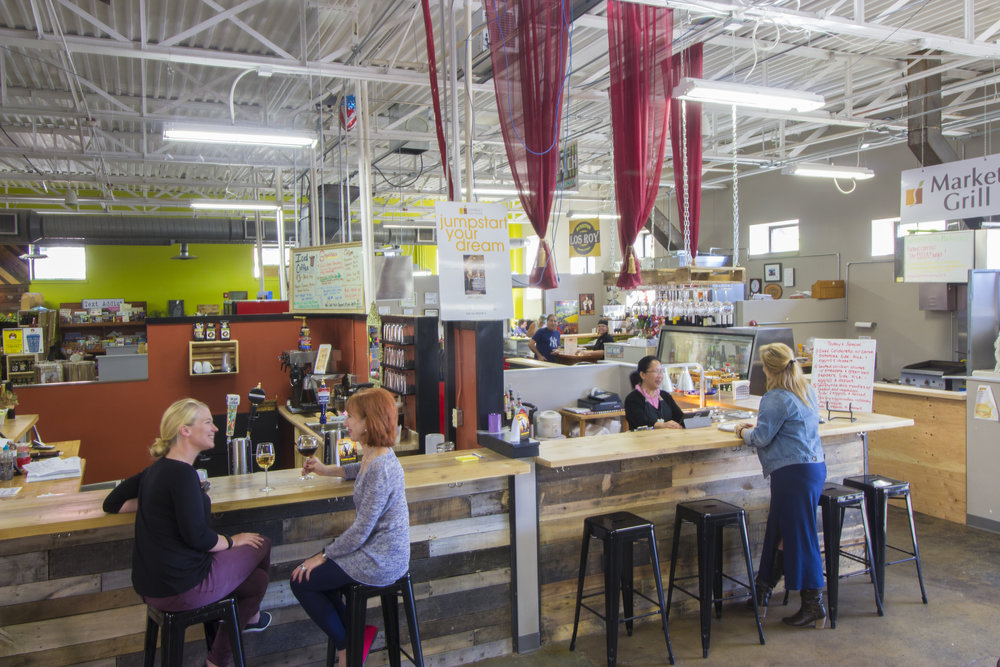 Enjoy authentic cuisine and live entertainment at the  Market on Main