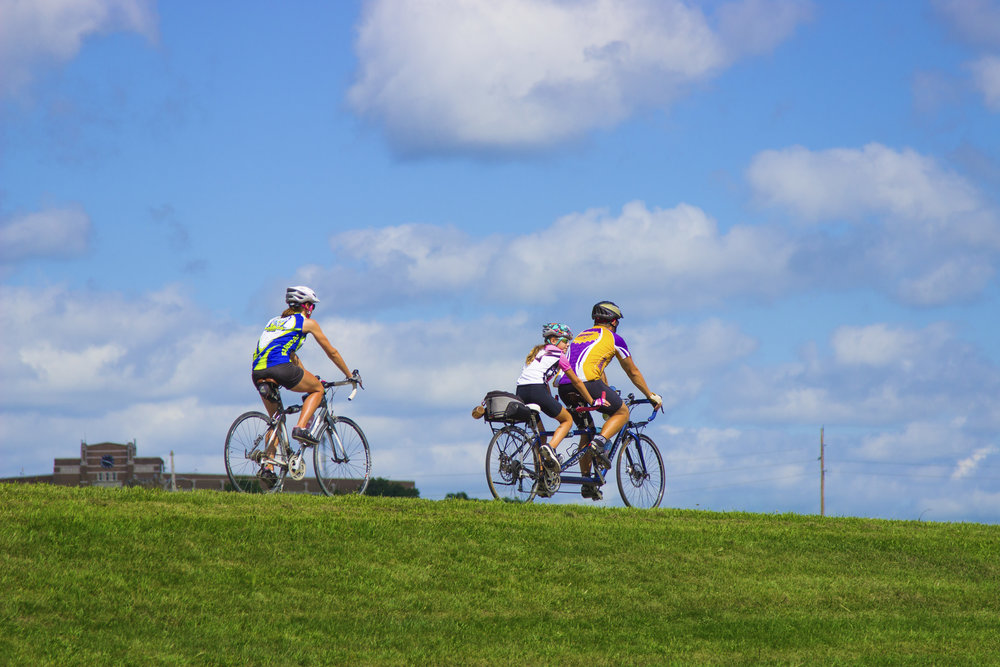 Take a ride on the  Ottumwa Trail System  - 14 miles of scenic walking/bike trails