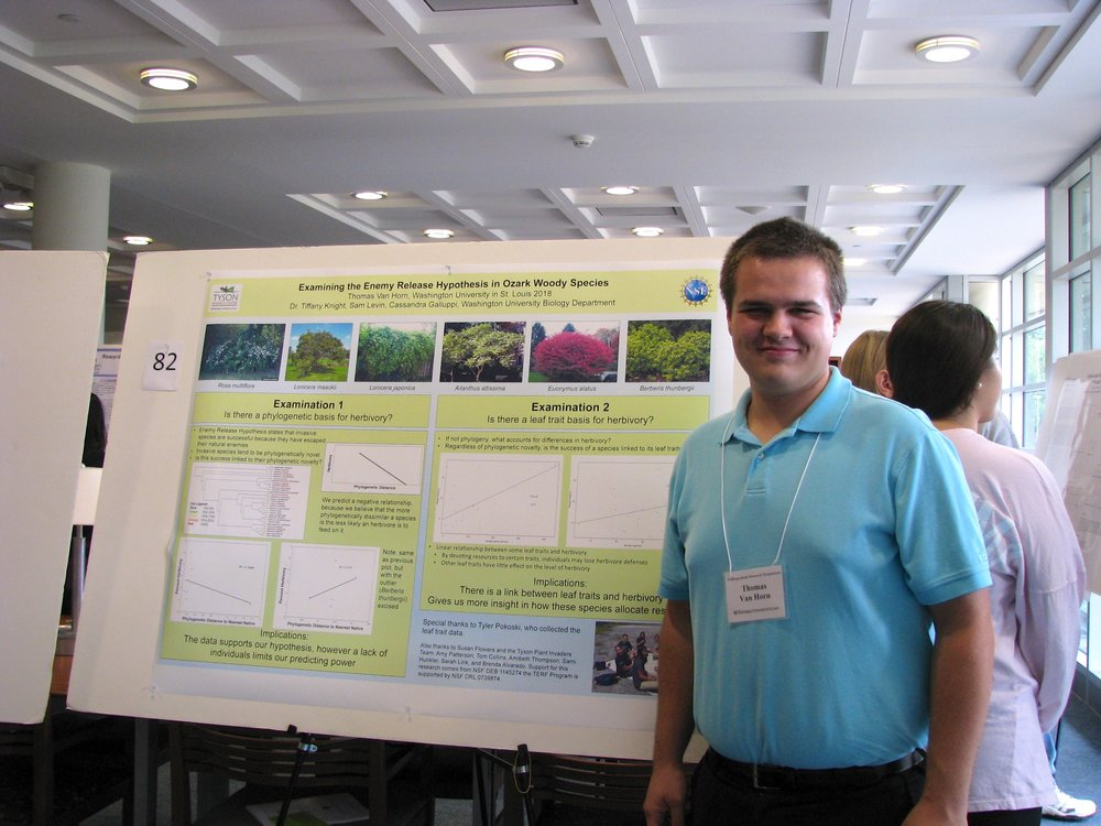 Presenting research as an uberTERFer at the WashU Undergraduate Research Symposium in October 2014