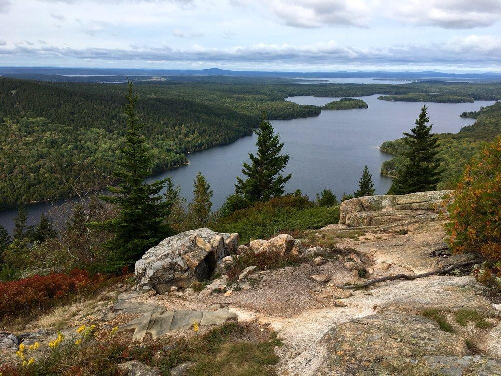 Bluff overlooking coastal Maine