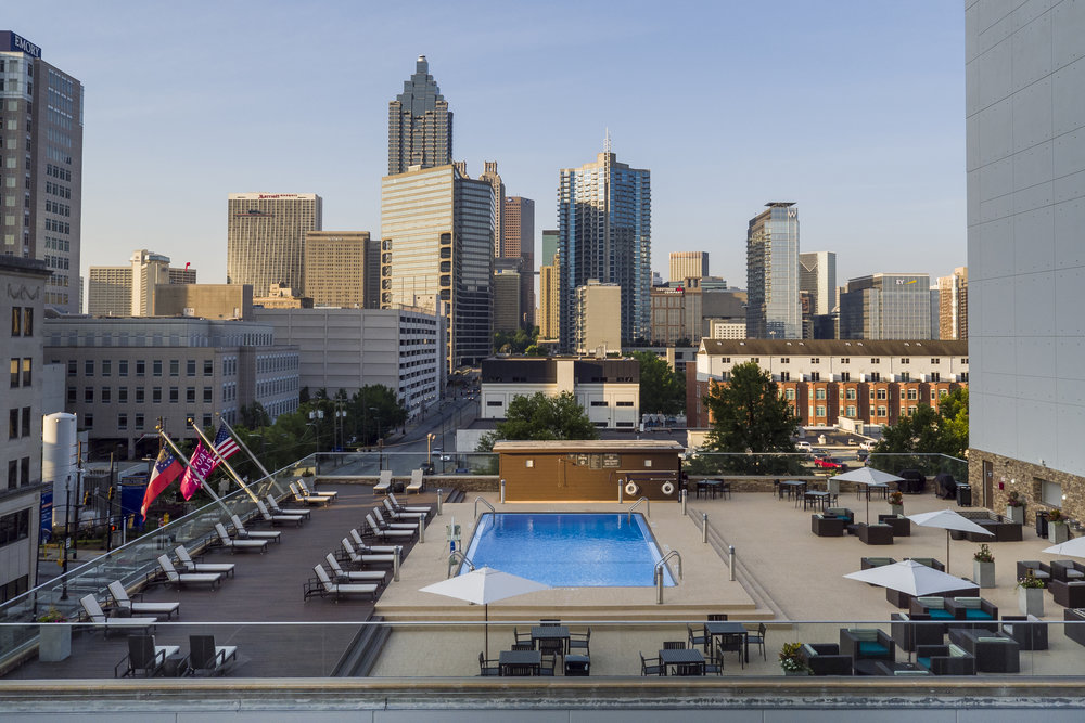 Crowne Plaza Atlanta Midtown - Rooftop Pool Deck Full Shot.jpg