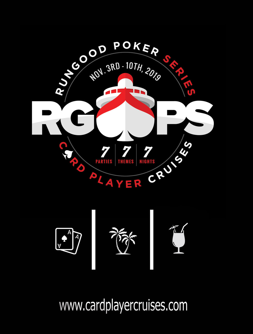 This graphic was made for the promotion of the upcoming RunGood cruise.