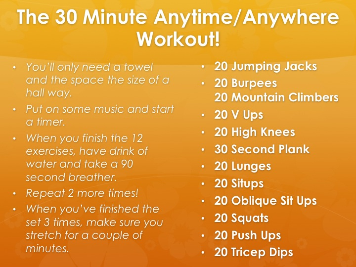 30 minute anytime anywhere workout