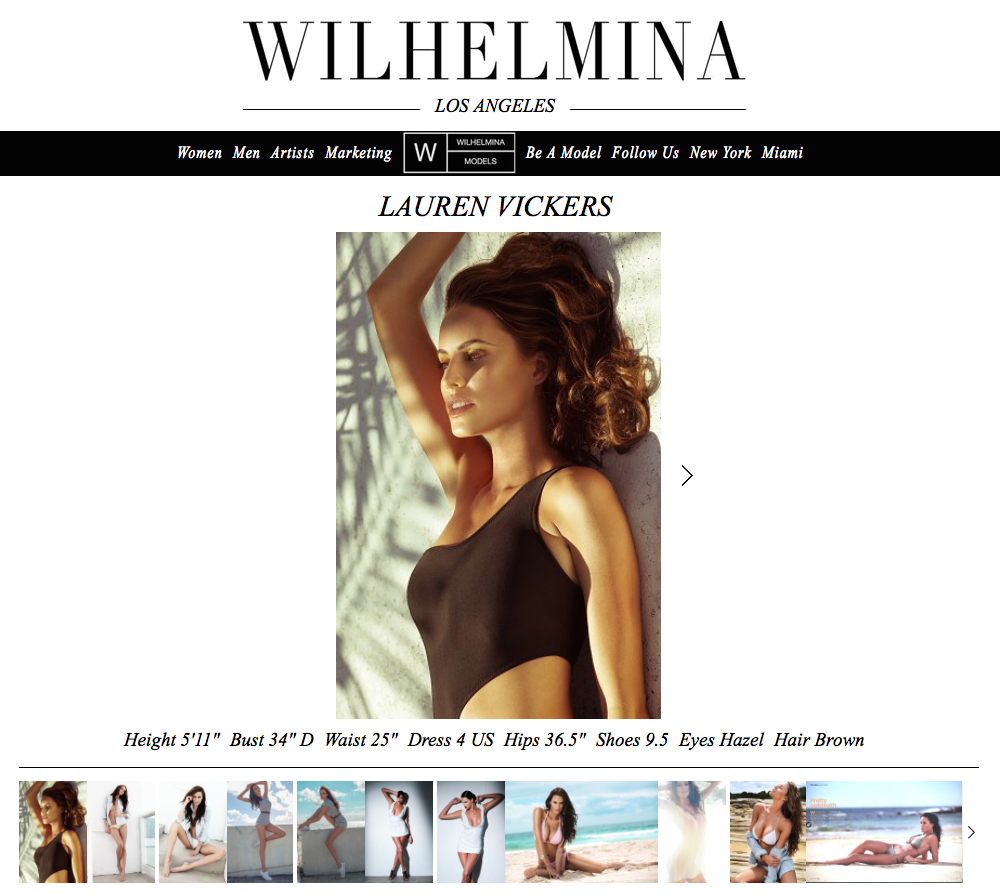 New on the Wilhelmina LA Board!  You can book me through the Direct department.