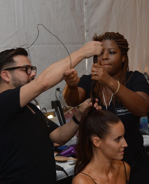 TRESemme at Dolores Cortes Mercedes-Benz Fashion Week Swim 2015 - Backstage