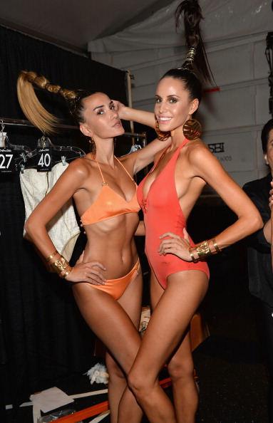Dolores Cortes - Backstage - Mercedes-Benz Fashion Week Swim 2015