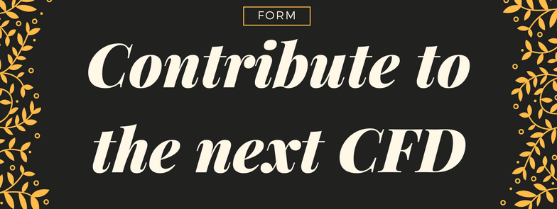 Want to contribute to the next CFD? -