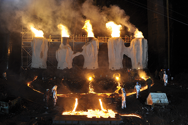 Matthew Barney and Jonathan Bepler, River of Fundament, 2014, production still, courtesy of Gladstone Gallery, New York and Brussels, © Matthew Barney, photo by Hugo Glendinning