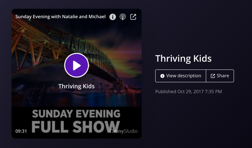 Sue West from the Murdoch Children's Institute talking about the importance of a child's early years - Podcast: Sunday Evening with Natalie and Michael