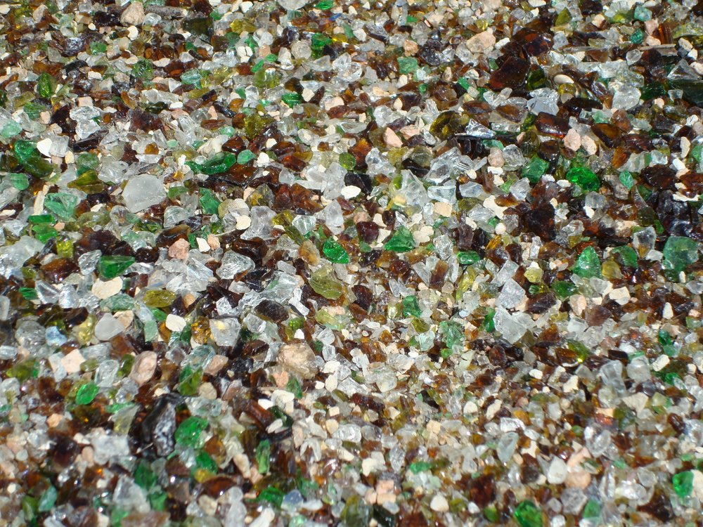 Recycled glass ground cover. Image source:  Flickr