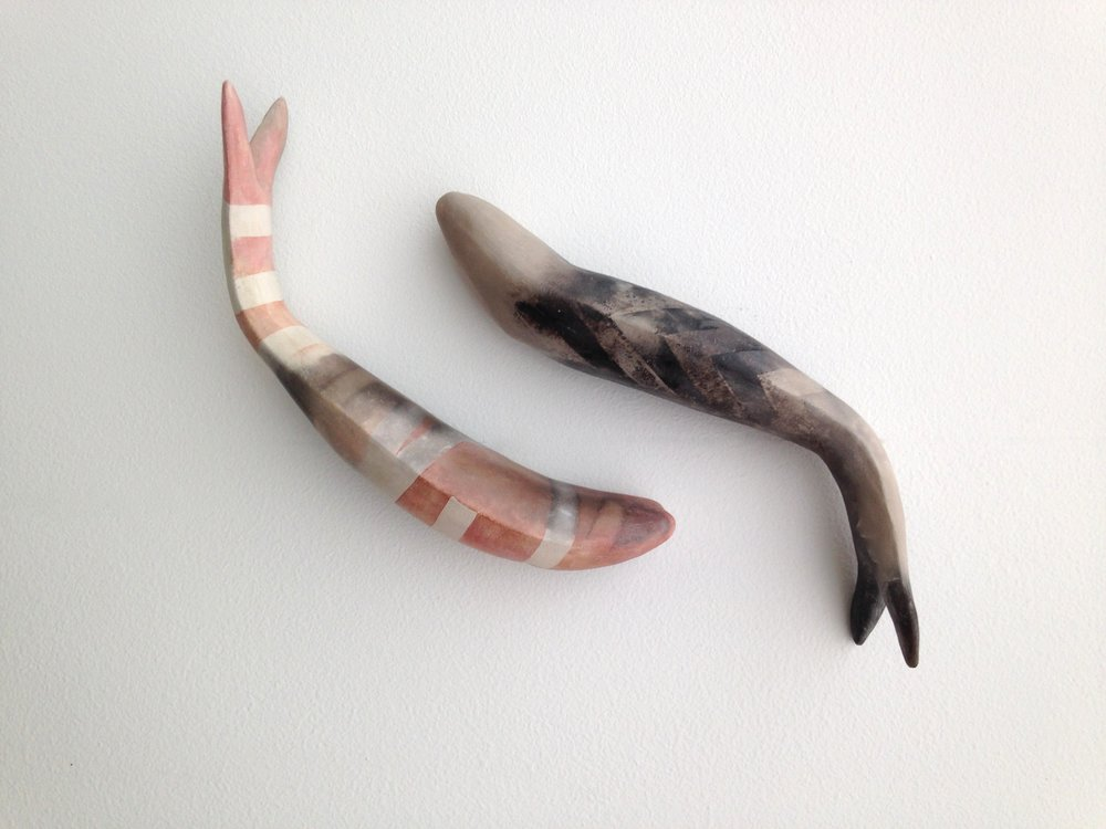 Mella Shaw HARVEST ceramic fish mounted on wall.jpg