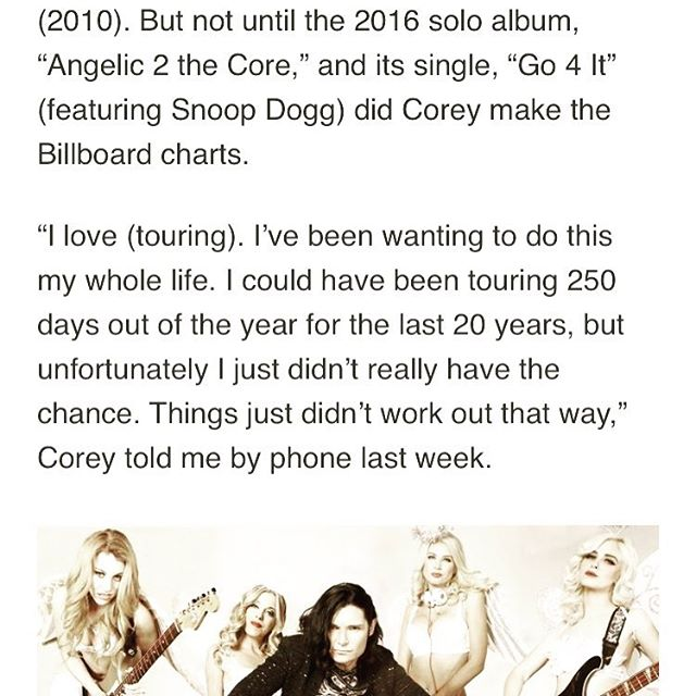 """S/O to @visaliatimesdelta for writing this really neat article about our song """"Go 4 It"""" Feat @snoopdogg #billboards2017 #billboard #coreyfeldman #go4it #angelic2thecore http://www.visaliatimesdelta.com/story/life/2017/05/01/witnessed-corey-feldman-again/101142880/"""
