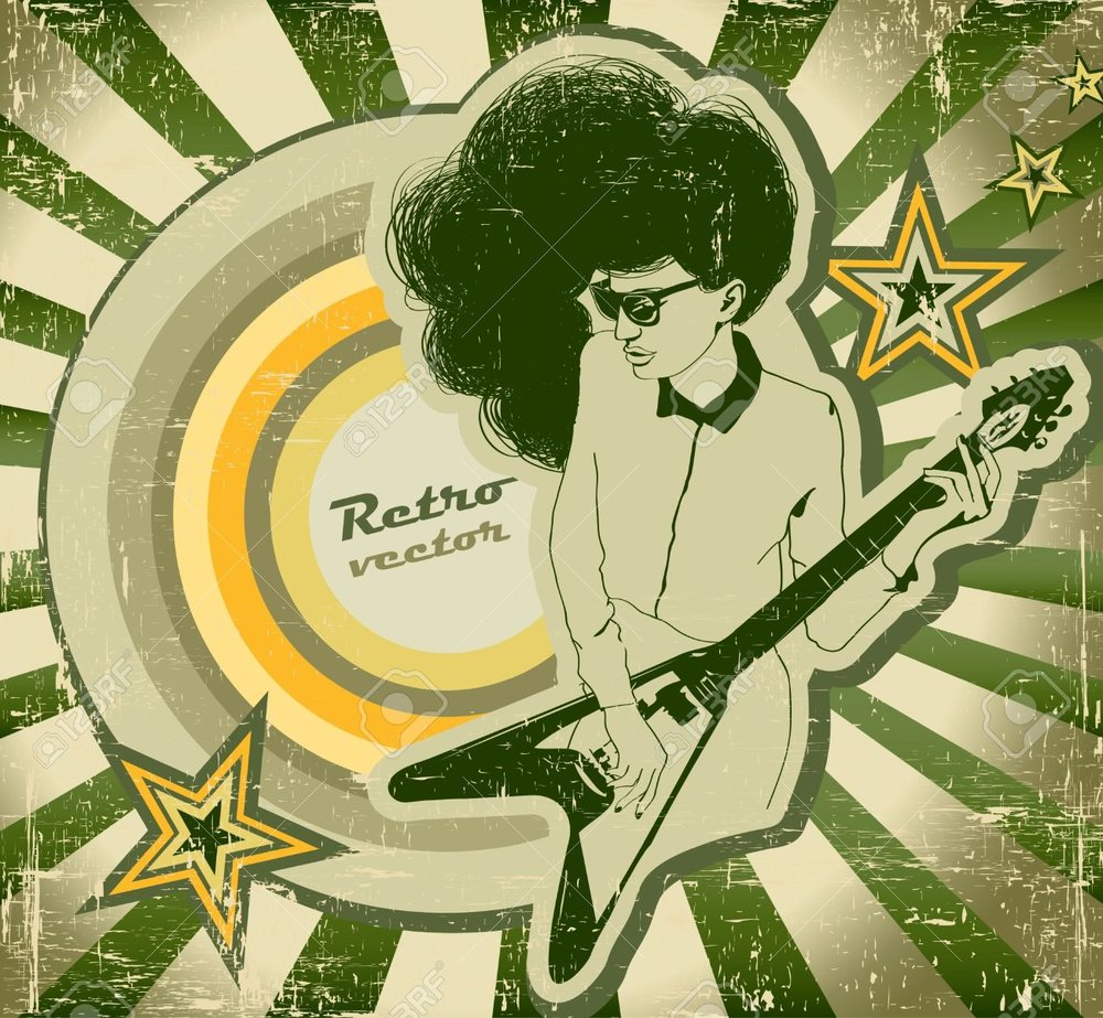 16654914-Woman-with-guitar-on-the-poster-of-retro-style-Stock-Vector-rock-music-roll.jpg
