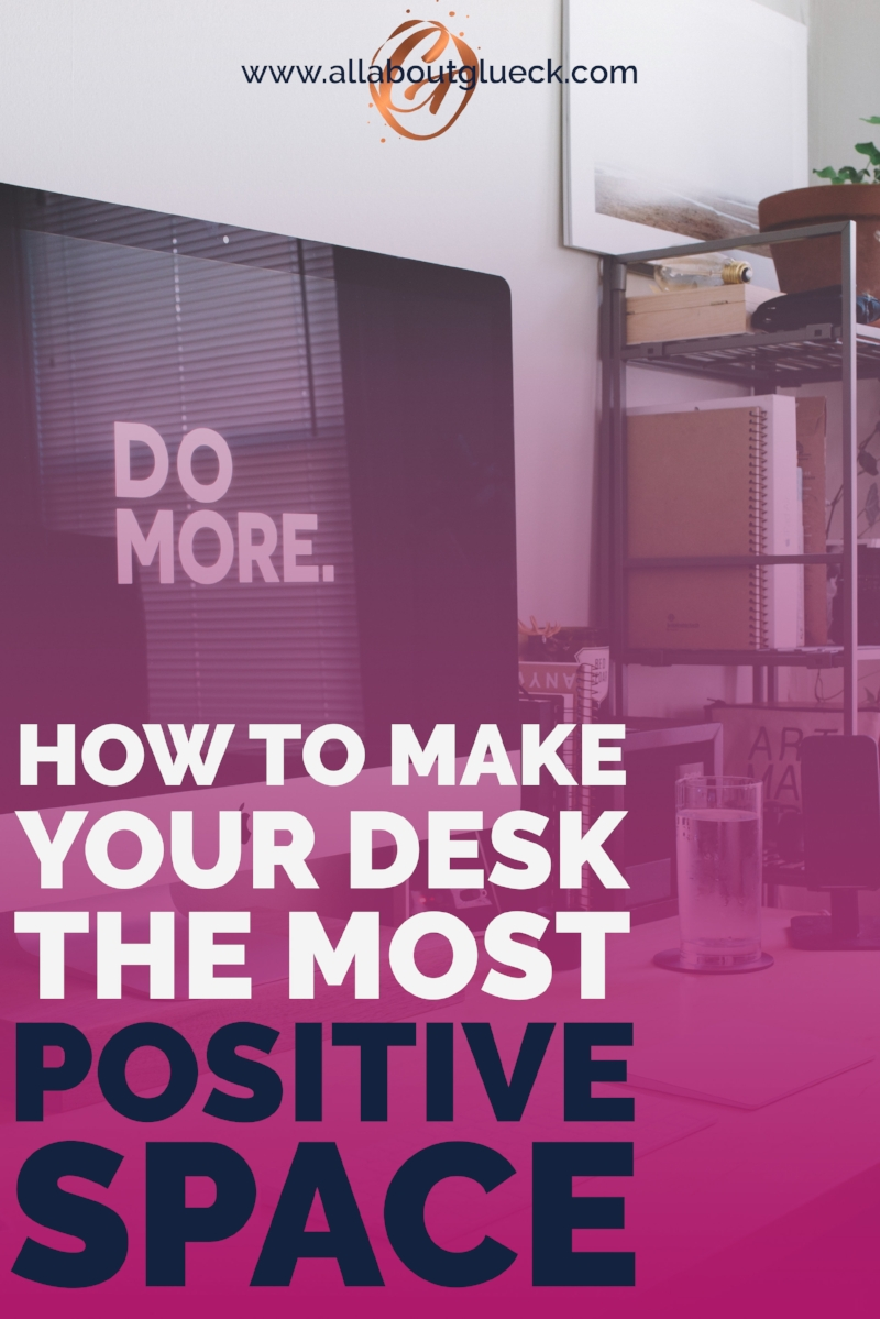 The place you spend the MOST time at each day should be the MOST positive. Trust me, this will change your mood ALL DAY LONG! Don't forget to download the workbook and get going!! http://bit.ly/positivedesk