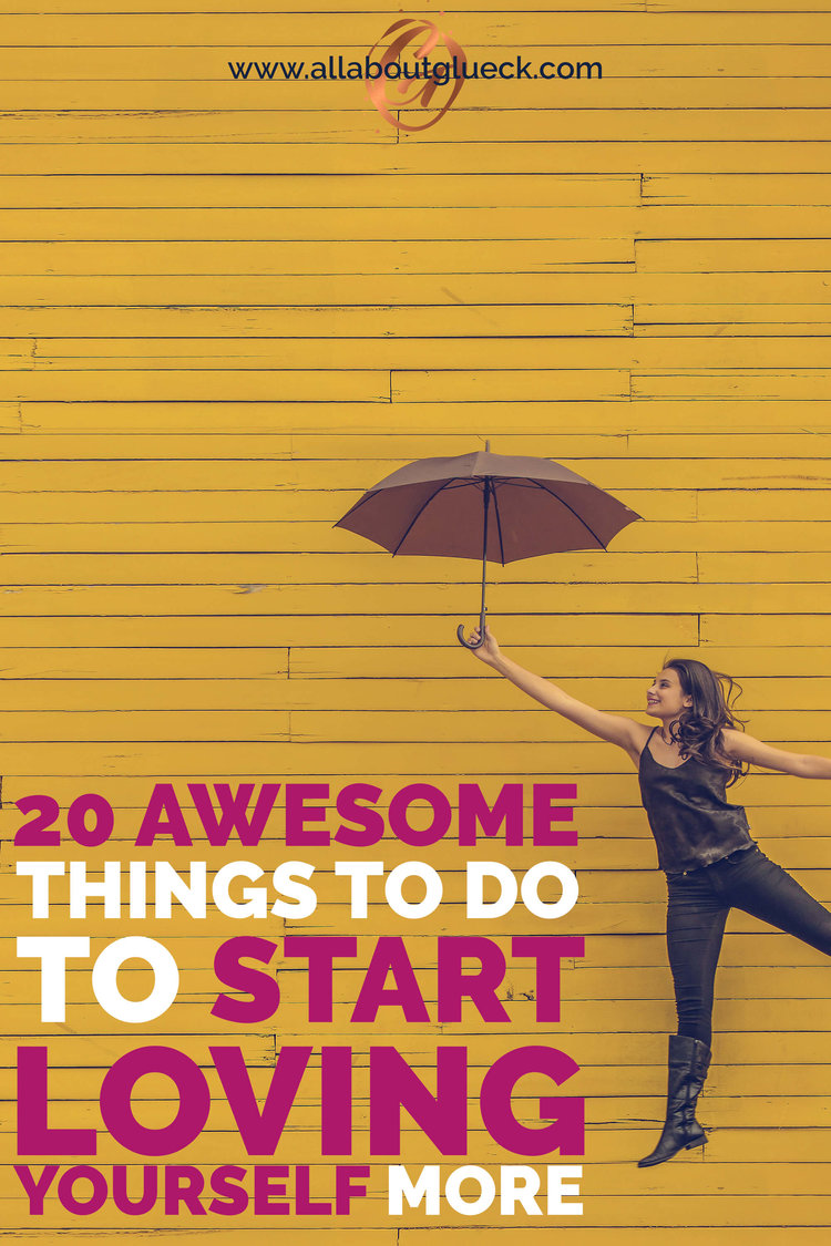 Loving yourself means making sure u have enough love & energy to take care of oths. Here're 20 things to get started http://bit.ly/20awesomethings