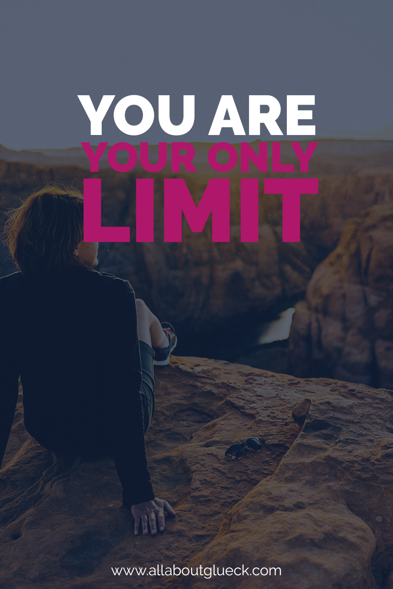 You are your only limit. The one thing you need to do sometimes is listening to your inner hero. Learn how to love yourself more by searching for it. http://bit.ly/20awesomethings