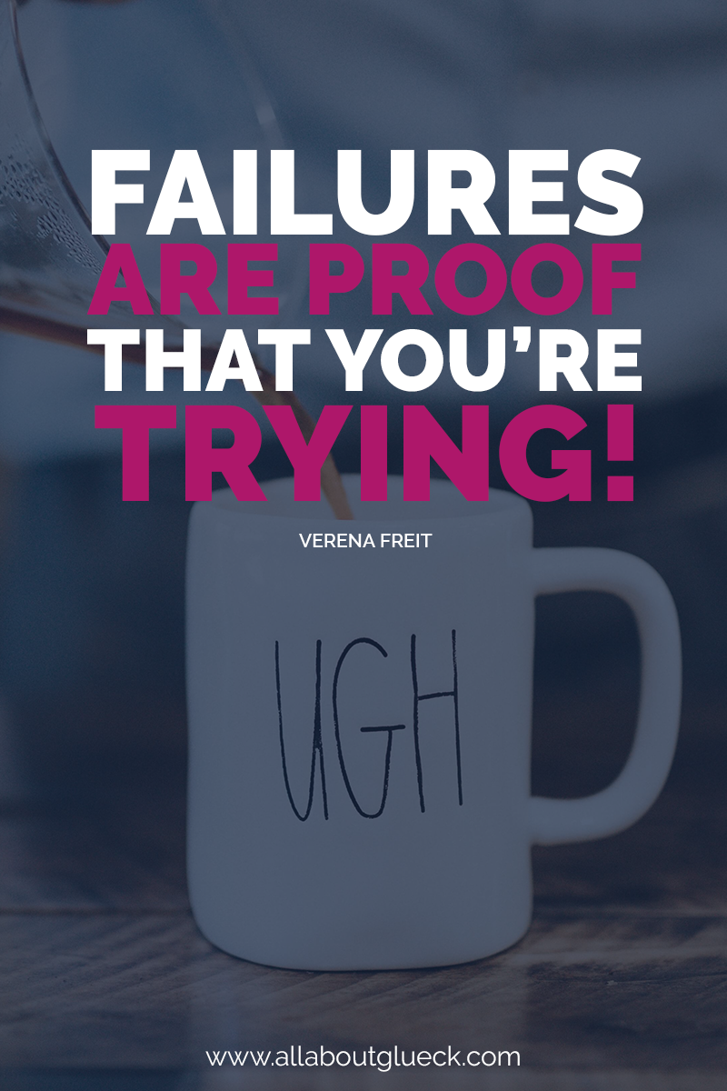 Failures are proof that you're trying! Yes, you might fail, but as long as you keep trying, failure will not be the end! Which makes success unavoidable. Learn more about how to achieve goals successfully! http://bit.ly/3stepstosettinggoals